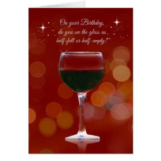 Themed födelsedagkort för roligt vin hälsningskort