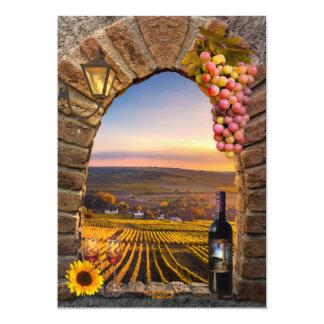 Themed födelsedagsfest inbjudan för Tuscan vin