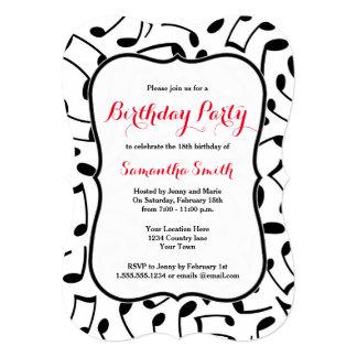 Themed födelsedagsfestinbjudan för elegant musik skräddarsydda inbjudan