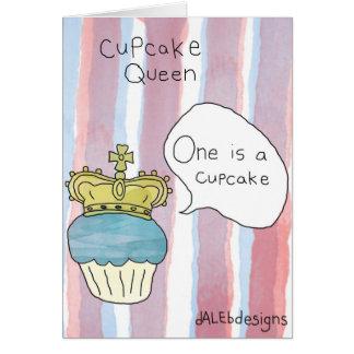 Themed hälsningkort för muffin - 'muffin Queen Hälsningskort