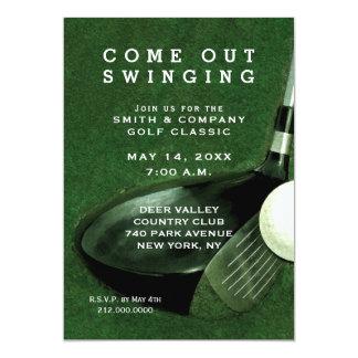 Themed inbjudan för Golf