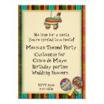 Themed inbjudan för mexicansk Fiesta 12,7 X 17,8 Cm Inbjudningskort