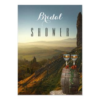 Themed inbjudningskort för möhippan för vingårdvin