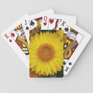 Themed klassiker för gul blom som leker kort casinokort