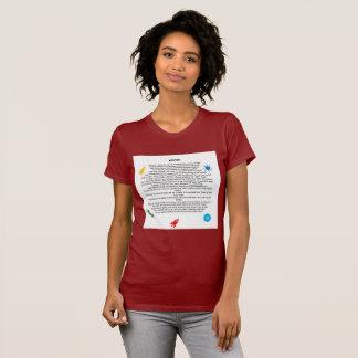 Themed skjortor för härlig poesi för kvinnlig, t-shirt