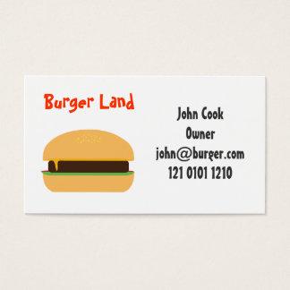 Themed visitkort för hamburgare