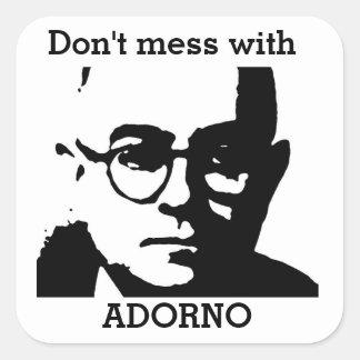 Theodor Adorno Fyrkantigt Klistermärke