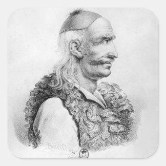 Theodore Kolokotronis som inristas av Alois Fyrkantigt Klistermärke