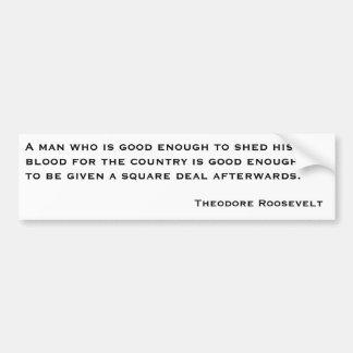 Theodore Roosevelt citationstecken 2 Bildekal