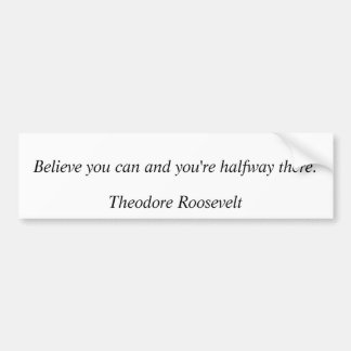 Theodore Roosevelt citationstecken 8 Bildekal