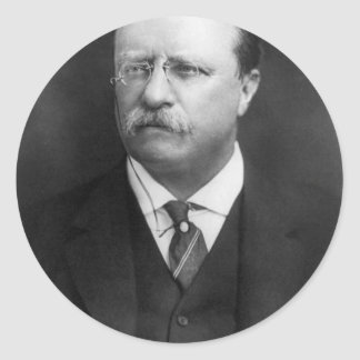 Theodore Roosevelt Runt Klistermärke