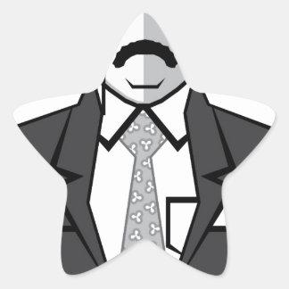 Theodore Roosevelt tecknad Stjärnformat Klistermärke