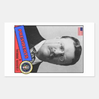 Theodore Teddy Roosevelt baseballkort Rektangulärt Klistermärke