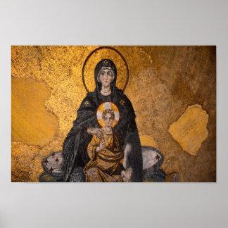 Theotokos Mary, mor av Jesus Poster
