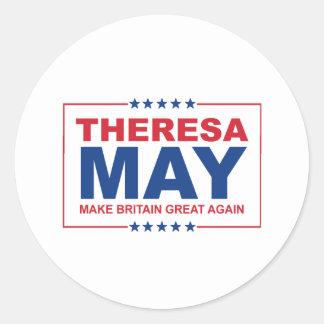 Theresa maj - gör Britannien underbar igen - - Runt Klistermärke