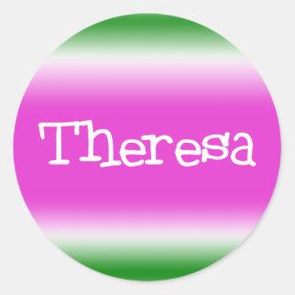 Theresa Runt Klistermärke
