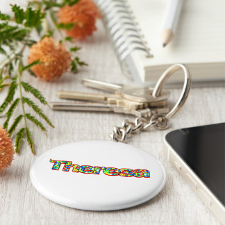 Theresas stil rund nyckelring