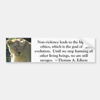 Thomas A. Edison djurens rättighetercitationstecke Bildekal