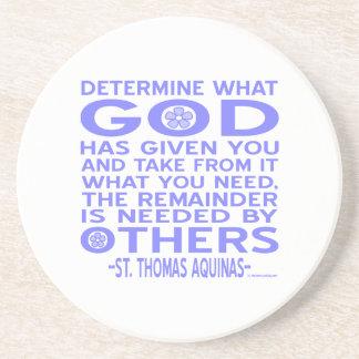 Thomas Aquinas gud givna lätt - blått Underlägg Sandsten