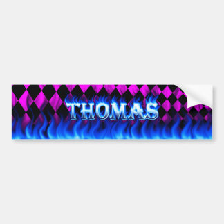 Thomas blått avfyrar och flammar bildekaldesign bildekal