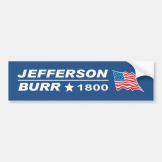 Thomas Jefferson - Aaron skorrar valet 1800 Bildekal