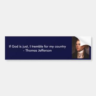 Thomas Jefferson beskådar på religion Bildekal