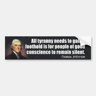 Thomas Jefferson citationstecken Bildekal
