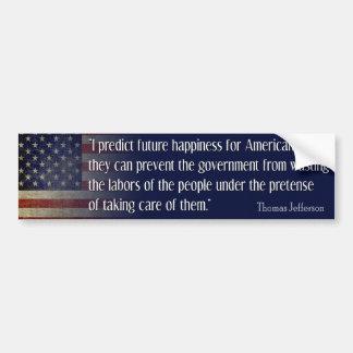 Thomas Jefferson citationstecken: Jag förutsäger Bildekal