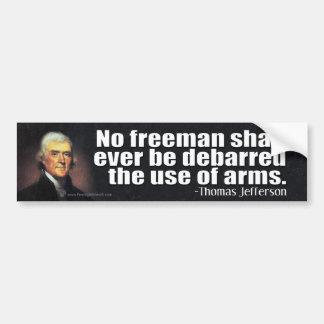Thomas Jefferson citationstecken på den 2nd Bildekal