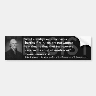 Thomas Jefferson MOTSTÅR Bildekal