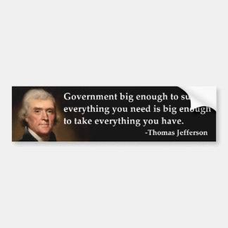 Thomas Jefferson regerings- stort nog Bildekal