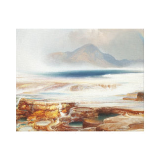 Thomas Moran - Hot Springs av Yellowstonen Canvastryck