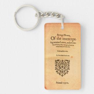 Thomas Nashe 1592 titelsida Shakespeare Keychain