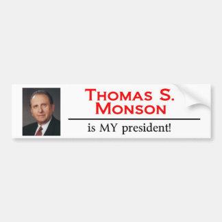 Thomas S. Monson är MIN president! Bildekal