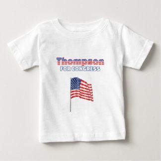 Thompson för den patriotiska amerikanska flaggan tee