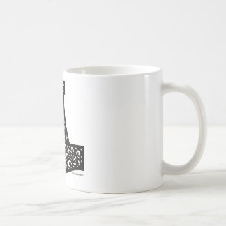 Thors bultar i svart kaffemugg