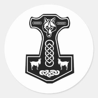 Thor'sen bultar klistermärkear runt klistermärke