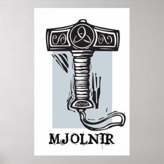 Thor'sen bultar Mjolnir Print
