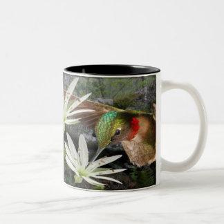 Throated Hummingbirds för härlig Ruby Två-Tonad Mugg