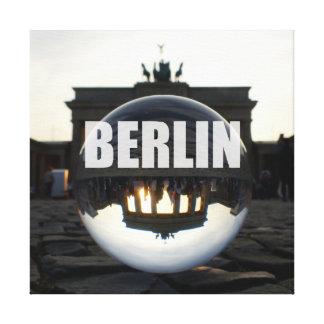 Through the crystal ball, Brandenburg Gate Canvastryck