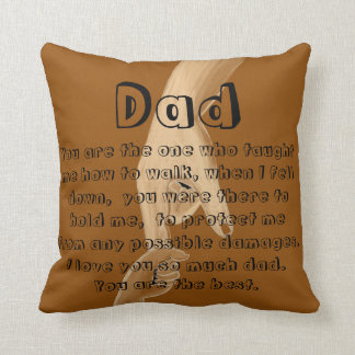 Throwpillow för brun handsketch för fars dag kudde