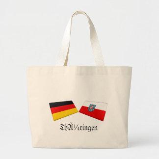 Thueringen Tysklandflagga belägger med tegel Kassar