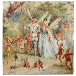 Thumbelinas bröllop i skogen tygservett