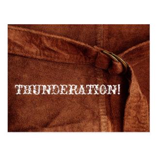 THUNDERATION! gammal-timey vittext på Suedefotoet Vykort