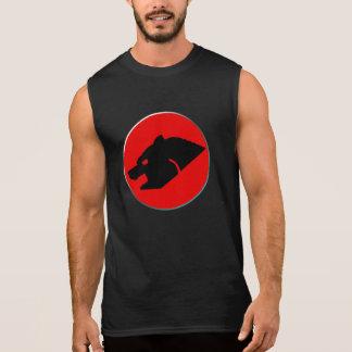Thunderbear glad björn sleeveless tröjor