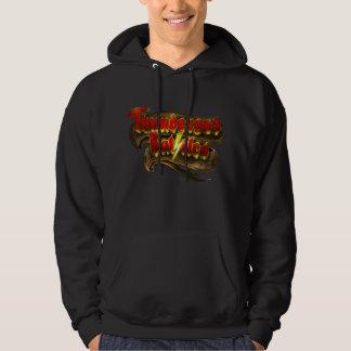 Thundergod slåss hoodien sweatshirt med luva