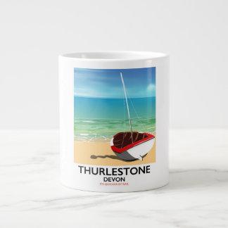 Thurlestone södra Devon reser affischen Jumbo Mugg