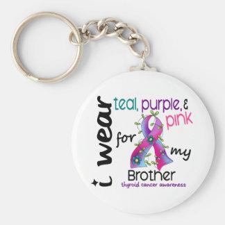 Thyroidcancer ha på sig jag bandet för min broder rund nyckelring