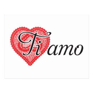 Ti amo (italienare) vykort