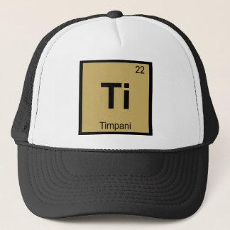 Ti - symbol för bord för Timpanimusikkemi Truckerkeps
